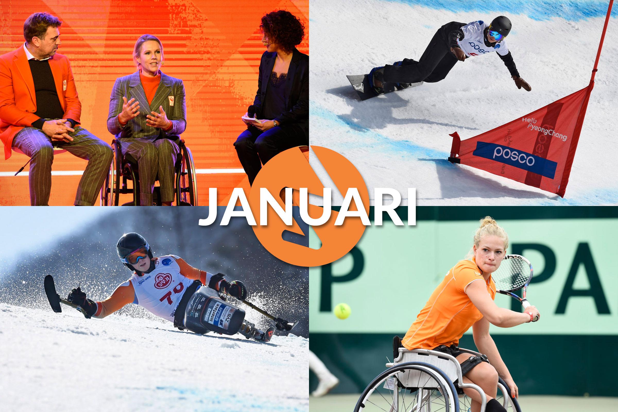 Januari 2018: Storm, sneeuw en grandslamtitels