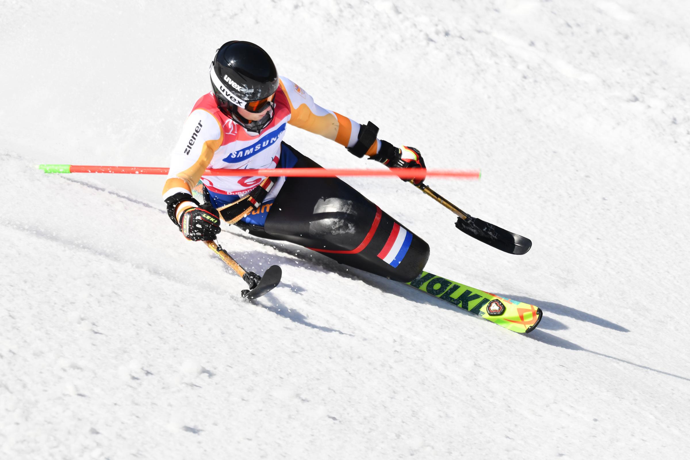 Rood-wit-blauwe troostprijs voor Kampschreur na teleurstellende slalom