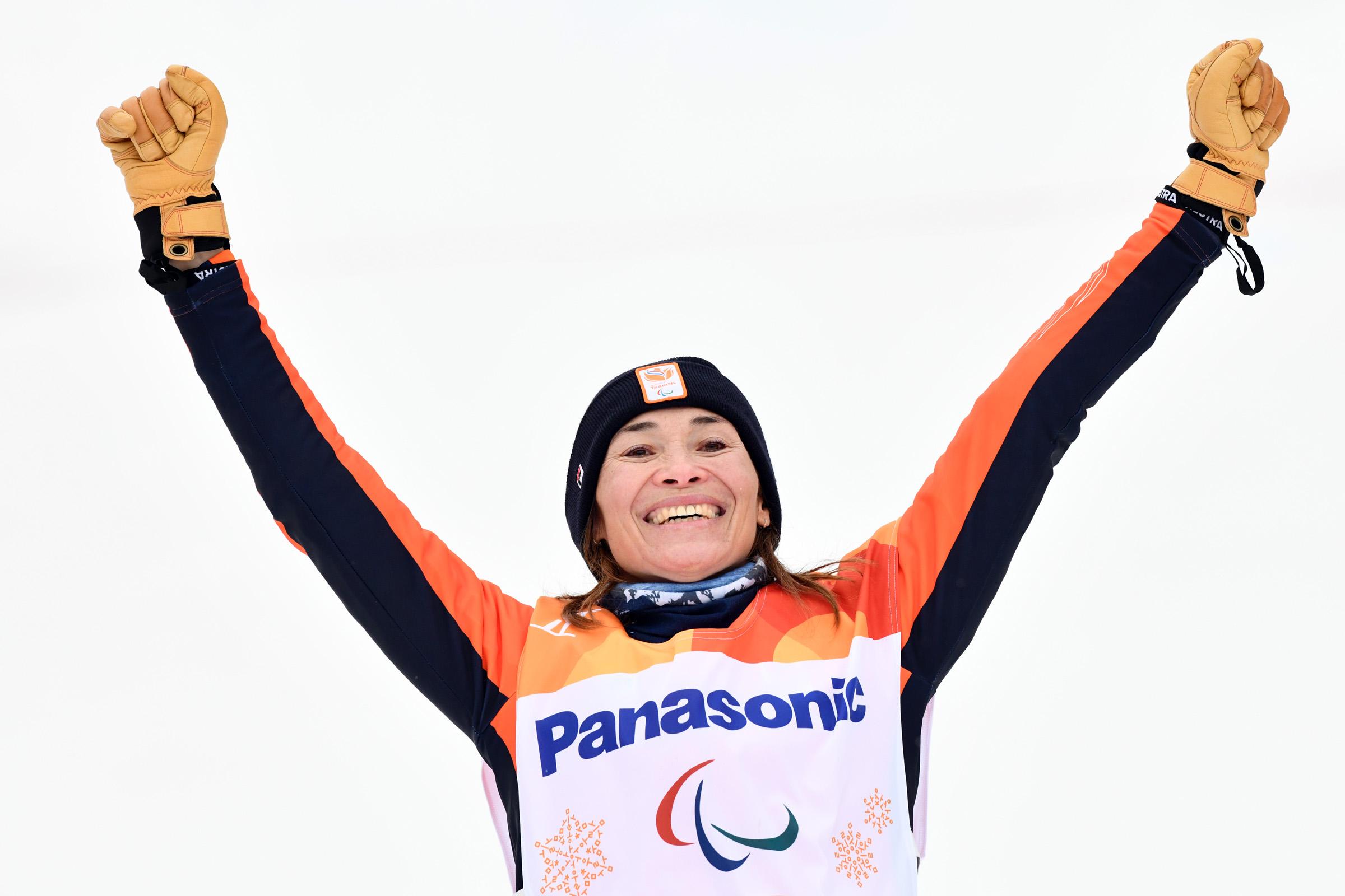 Snowboarden is een sport van vrouw tegen vrouw. En aan het einde wint Bibian Mentel