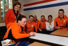 Prinses Margriet op bezoek in het Paralympisch Dorp