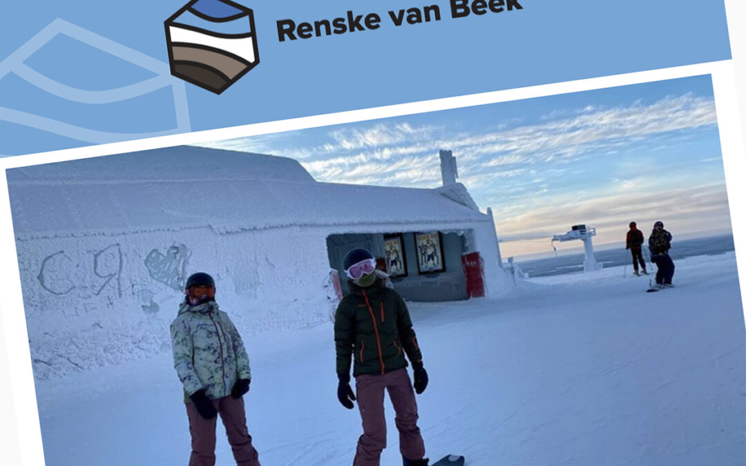Renske van Beek: 'Fingers crossed' in de Finse sneeuw